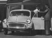 Morris Minor and salesman