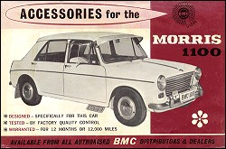 front page of 1966 Morris 1100 accessories brochure