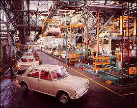 Assembly line at the Zetland factory