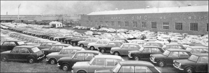 The BMC Factory showing rows of finished 1100s ready for distribution